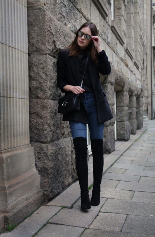 Blogger Outfit Overknees kombinieren Maje FUISY| Fancyflare.com, Blog from Hamburg