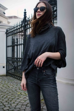 Mango Outfit Skinny Jeans H&M Topshop beige boots | Fancyflare German Blog