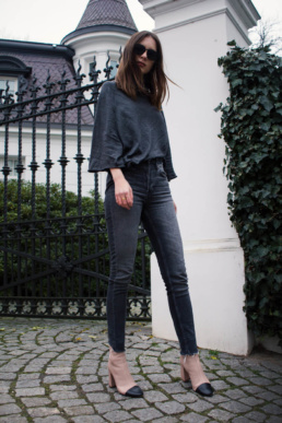 Mango Sweater Skinny Jeans H&M Topshop beige boots | Fancyflare German Blog