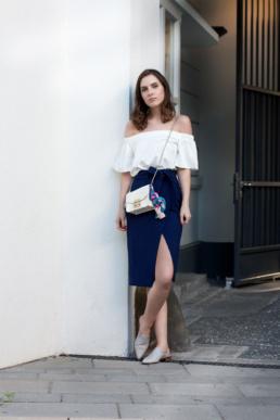 Pantolette mules furla metropolis wrap skirt offshoulder | Fancyflare German Blog