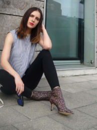 Sock Boots Zara Topshop Jamie Jeans Coach Bag Striped Top   Fancyflare Blogger from Hamburg