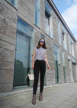 Sock Boots Zara Topshop Jamie Jeans Coach Bag Striped Top | Fancyflare Blogger from Hamburg