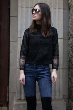 Maje LIZIE Lace Top Spitzenbluse | Fancyflare.com, Blog from Hamburg