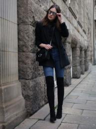 Blogger Outfit Overknees kombinieren Maje FUISY  Fancyflare.com, Blog from Hamburg