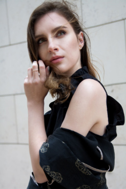 H&M Ruffle Top Ear Piercing Helix Conch   Fancyflare German Blogger